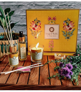 Pudełko upominkowe z dyfuzorem, świecą i sprayem zapachowym GIFT BOX Luxury Veda