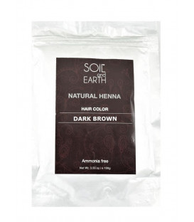 Henna do włosów Indyjska CIEMNY BRĄZ 100g Soil&Earth