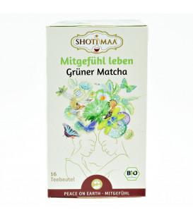 Herbata BIO Pokój na Ziemi - Otwarcie na współczucie - Słodka Matcha & Zielona Herbata z przyprawami, 16 torebek, Shoti Maa