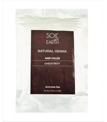 Ekskluzywna Henna do włosów Indyjska ORZECHOWY BRĄZ 100g Soil&Earth