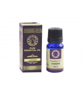 10 ml. Lavender Essential Oil in Orifice Reducer Blue Glass Bottle s