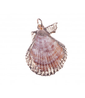 Shell Pendant in 925/000 silver gilt.
