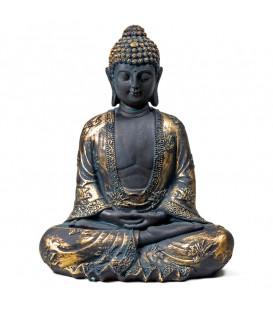 Budda Medytujący, antyczne wykończenie, Japonia, 440 g, 17x11x22 cm