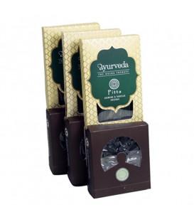 Zestaw (Pitta) Jasmine & Vanilla - patyczki, stożki i podstawka, Aurveda Dosha Theraphy, Song of India