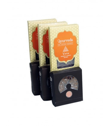 Ayurveda: Dosha Theraphy - Incense Sticks, Cones & Holder Orange &Cyperus