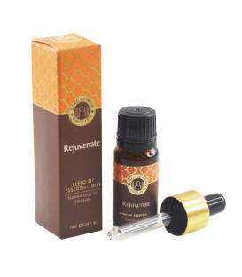 10 ml. Essential Oil Blend in Amber Glass Bottle with Rejuvenate
