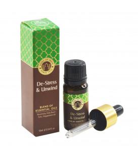 10 ml. Essential Oil Blend in Amber Glass Bottle with De-Stress & Unwind