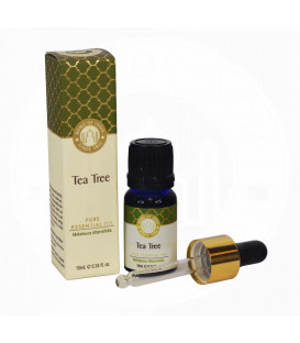 ml. Tea Tree Luxurious Veda Essential Oil in Blue Glass Bottle with Golden Dropper
