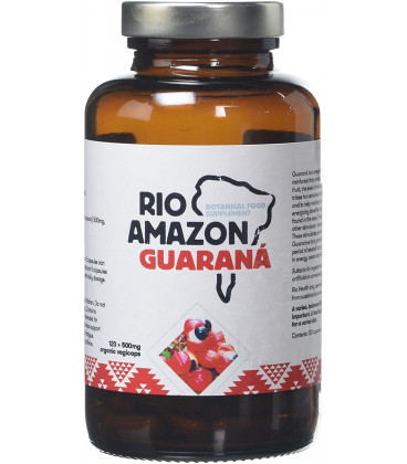 GUARANA - suplement diety 60 kapsułek x 500mg, Rio Amazon