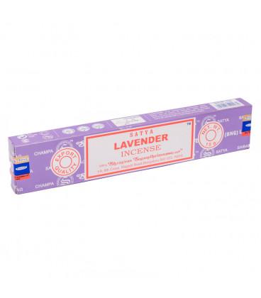 Kadzidła Lawendowe Lavender 15g Satya - Kojące, wysublimowane, ziołowe