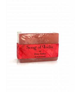 Mydło glicerynowe z pumeksem z orzecha z dodatkiem olejku Różanego z Miodem, 125 g. Song of India