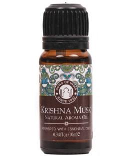 Olejek zapachowy - Piźmowy - Krishna Musk, 10 ml. Song of India