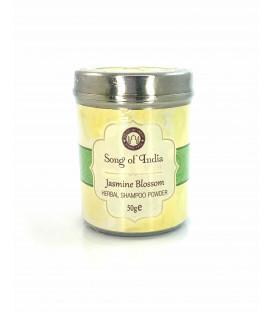 Szampon ziołowy w proszku zapach Jaśminu w stalowym słoiczku 50 g Song of India
