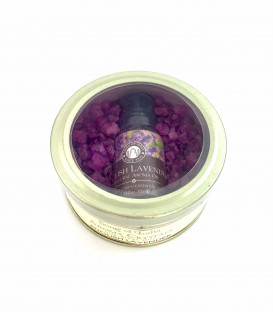 70 g. Aroma Crystals and 10 ml. Aroma Oil in Glass Tin Jar English Lavender
