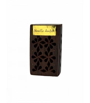 Żywica Zapachowa Wanilia i Ambra w szkatułce z drewna różanego 5g Song of India