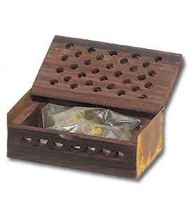 Żywica Zapachowa Trawa Cytrynowa i Ambra w szkatułce z drewna różanego 5g Song of India