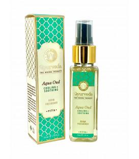 Luksusowy spray zapachowy - Aqua & Oud (Pitta), 50 ml. Luxurious Veda Song of India
