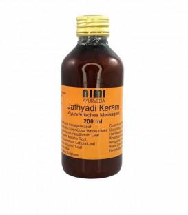Ajurwedyjski olej do masażu Jathyadi KERAM Thailam 200 ml Nimi Ayurveda