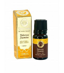 Olejek zapachowy z zakraplaczem Tuberoza & Jaśmin (Vata) 10 ml Luxurious Veda Song of India