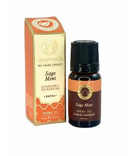 Olejek zapachowy z zakraplaczem - Szałwia & Mięta (Kapha), 10 ml. Luxurious Veda Song of India