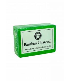 Ręcznie robione mydełko 125g. Czarne z Węgla Bambusowego, Song of India