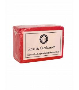Ręcznie robione mydełko 125g. Róża i Kardamon, Song of India
