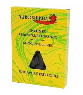 Kadzidła w stożkach, zapach - Singapore Patchouli - 14 stożków, Auroshikha