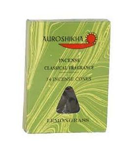 Kadzidła w stożkach, zapach - Trawa Cytrynowa - 14 stożków, Auroshikha