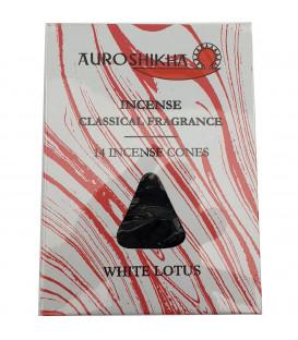Kadzidła w stożkach, zapach - Biały Lotos - 14 stożków, Auroshikha