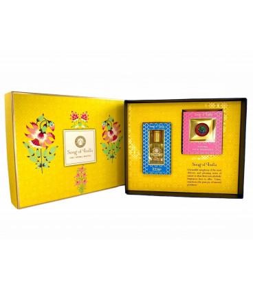 Pudełko prezentowe - Perfumy roll-on 10ml i perfumy w balsamie 4g., Little Pleasures Gift Box
