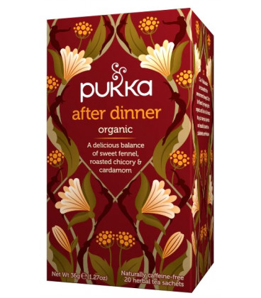 Herbata Po obiedzie/After Dinner CYKORIA & KOPER, 20 organicznych torebek, Pukka - na trawienie