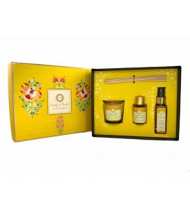 Pudełko prezentowe z dyfuzorem, świecą i sprayem zapachowym - Tuberoza & Jaśmin (Vata) GIFT BOX Luxury Veda