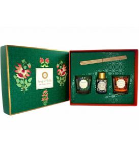 Pudełko prezentowe - 2 świece Bergamotka i Neroli, Bryza morska i dyfuzor zapachowy Konwalia, Little Pleasures Gift Box