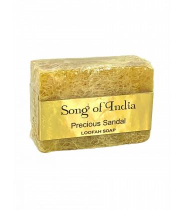 Ręcznie robione mydło glicerynowe z pilingującą Luffa (LOOFAH) - Precious Sandal 125 g. Song of India