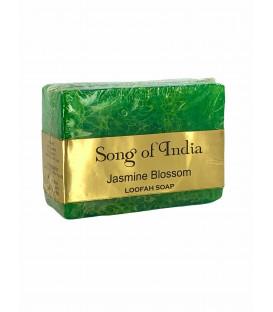 Ręcznie robione mydło glicerynowe z pilingującą Luffa (LOOFAH) - Kwiat Jaśminu - 125g. Song of India