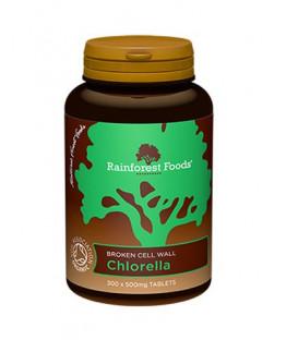 Chlorella BIO  (300 tabletek x 500 mg), Rainforest Foods suplement diety