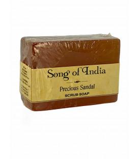 Mydło glicerynowe z pumeksem z orzecha z dodatkiem olejku Sandałowego, 125 g. Song of India