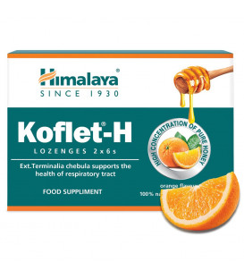 Koflet -H Pastylki do ssania o smaku pomarańczowym, 2 x 6 sztuk Himalaya