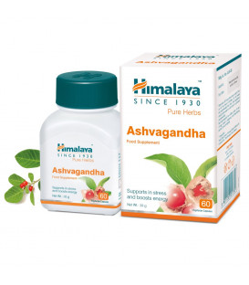 Ashwagandha 60 vege-kaps. Himalaya (Suplement Diety) - witalność i energia
