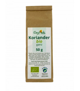Coriander whole, organic, 50 g