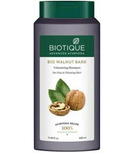 BIO Szampon zwiększający objętość włosów z Orzechem włoskim, Amlą, Reethą i Bhringaraj, Biotique 340 ml