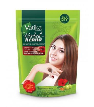 Ziołowa henna do włosów Drzewo sandałowe i Róża 200g Vatika Dabur