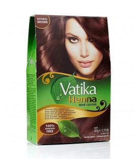 Henna do włosów Vatika Hair Color Natural Brown - Brąz 60g. Dabur