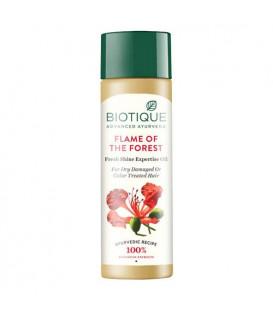 BIO Olejek wzmacniający z Hibiskusem do włosów Flame of the Forest, 120ml Biotique