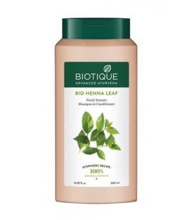 Szampon 2w1 z odżywką i BIO ekstraktem z liści LAWSONI ALBA 340ml Biotique