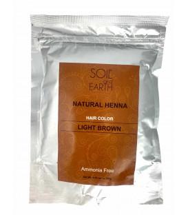 Ekskluzywna Henna do włosów Indyjska JASNY BRĄZ 100g Soil and Earth