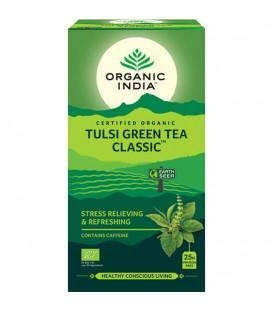 Herbata Tulsi Green Tea Organic India 25 torebek