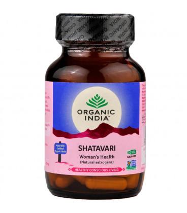 Shatavari Organic India 60 x 400mg (Suplement diety)