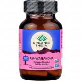 Ashwagandha Organic India 60 kaps x 400mg (Suplement diety)
