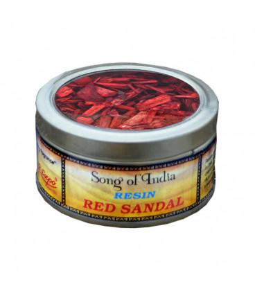 Żywica Naturalna Susz drewna Czerwony Sandałowiec (red sandalwood)  25g. Song of India